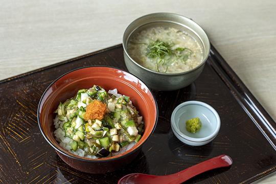 """6月より「夏野菜の山形風""""だし""""と、特製冷や汁」がランチ・ディナーに登場!"""